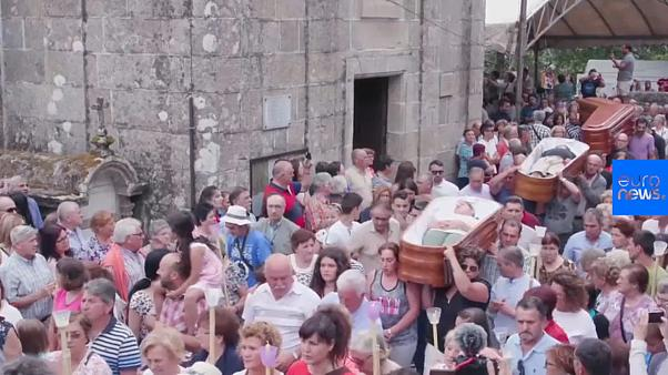 Watch: Spanish town hosts annual Festival of Near-Death Experiences