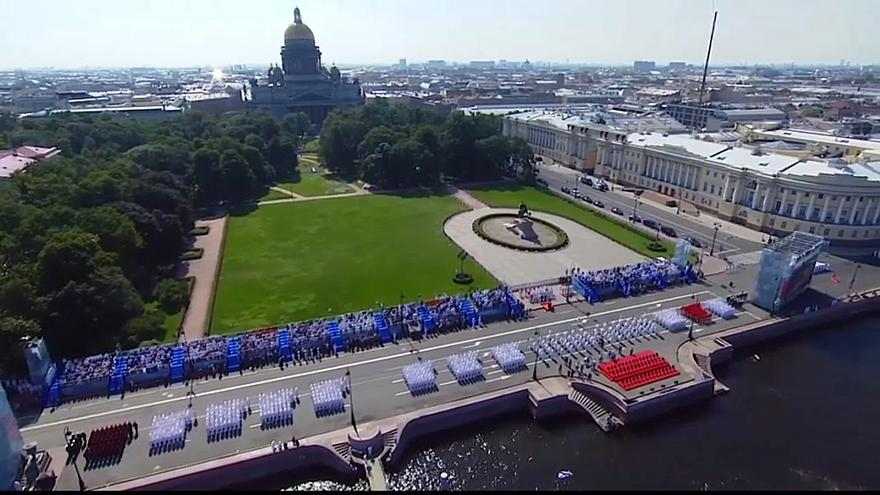 No Comment: Grand naval parade marks Navy Day in Russia