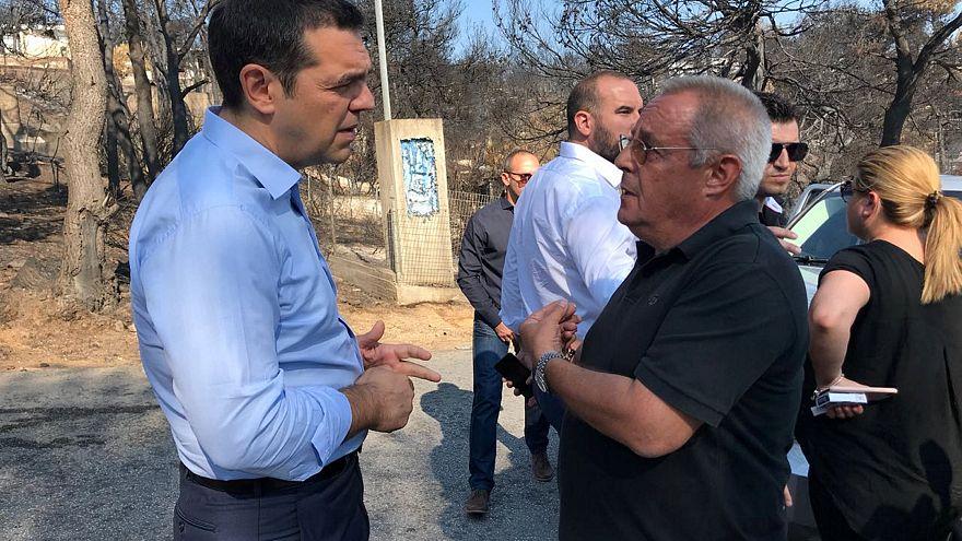 Grecia: Tsipras visita le zone devastate dagli incendi