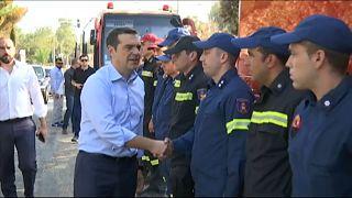 Tsipras besucht Katastrophengebiet