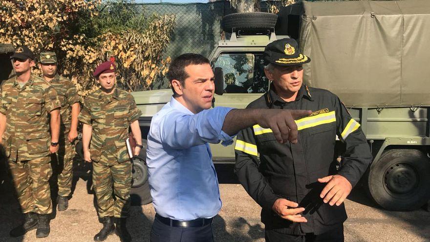 Az erdőtüzek helyszínére látogatott a görög miniszterelnök