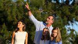 El rey Juan Carlos no salió en la foto de verano de la familia real