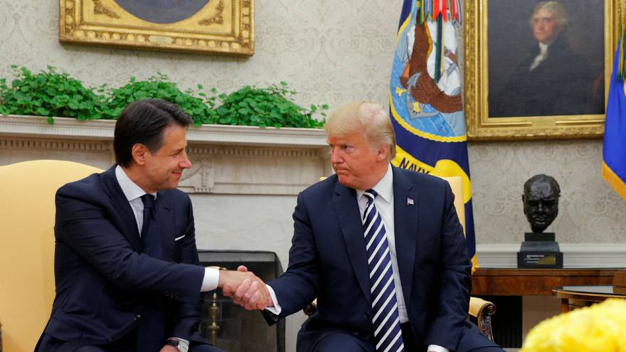 US President Donald Trump and Italian Prime Minister, Giuseppe Conte meet at the White House