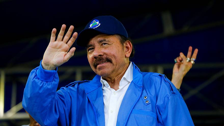 nicaragua s ortega says volunteer cops help police during protests
