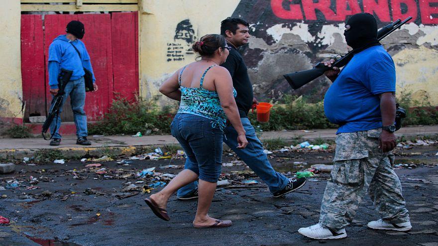 Nikaragua hükümet yanlısı gösterici