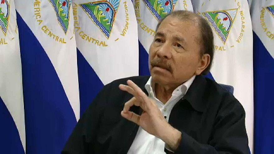 """رئيس نيكاراغوا لـ""""يورونيوز"""": العصابات المقنعة هم """"رجال شرطة متطوعون"""""""