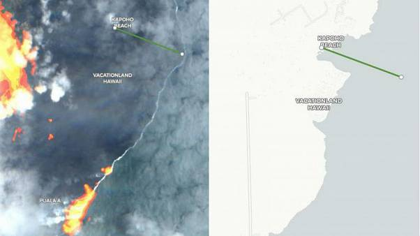Hawaii'nin sahil şeridi yanardağ patlamasının ardından 1.5 kilometre genişledi