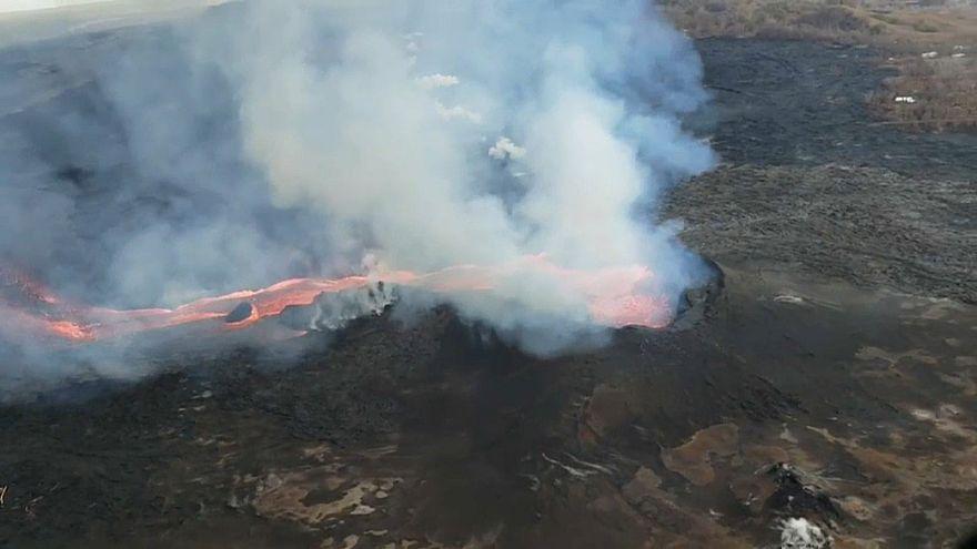 مساحة ساحل هاواي تزيد بمقدار 1.5 كيلومتر بسبب بركان كيلاويا