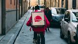 A takeaway courier for the online platform Foodora (KaiPilger/Pixabay)