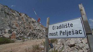 Croatie-Bosnie : début des travaux du pont de la discorde