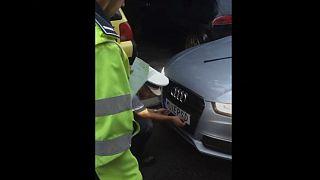 پلیس رومانی پلاک «توهینآمیز» یک خودروی سوئدی را ضبط کرد