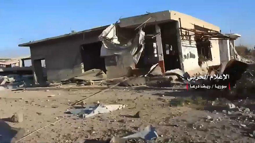 جانب من استيلاء قوات النظام السوري على حوض اليرموك في درعا