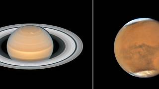 New images of Saturn (L) and Mars (R) have been released.
