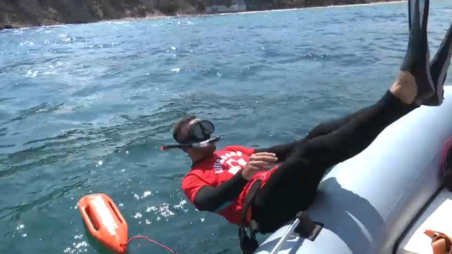 La búsqueda de víctimas de Mati se traslada al mar