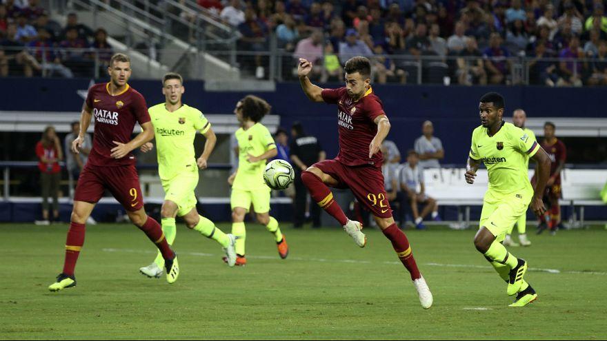 Stephan El Shaarawy em destaque no triunfo da AS Roma diante do Barça
