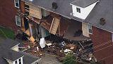 Félig összedőlt egy ház a viharban