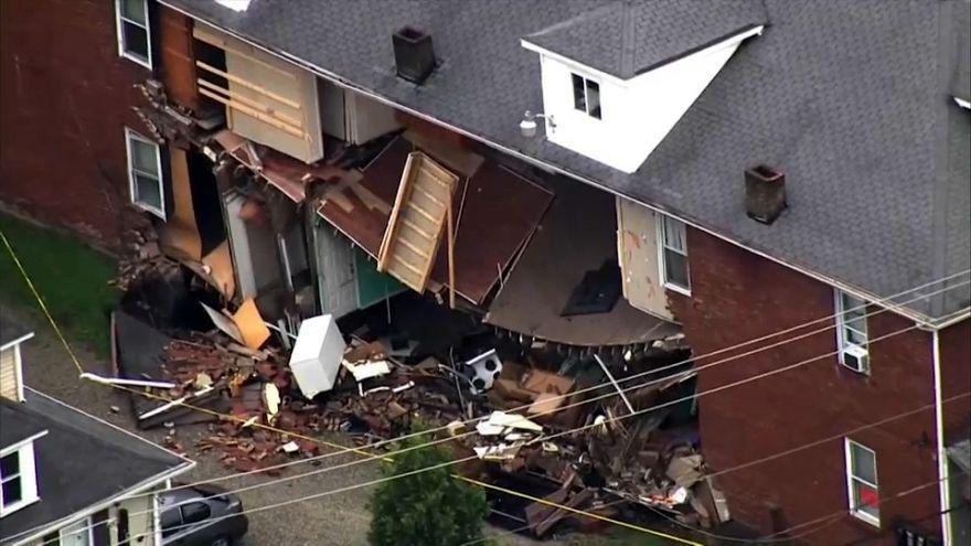 5 personas rescatadas en el desplome de una vivienda en Pensilvania