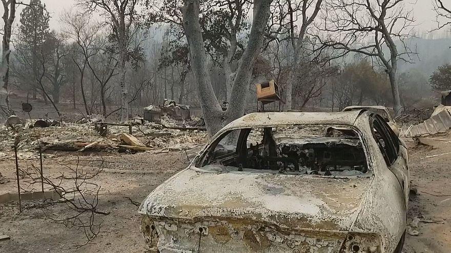 مدينة ريدينغ الأمريكية تتحول إلى يباب بسبب حرائق كاليفورنيا