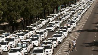 Spanische Taxifahrer beenden ihren Streik