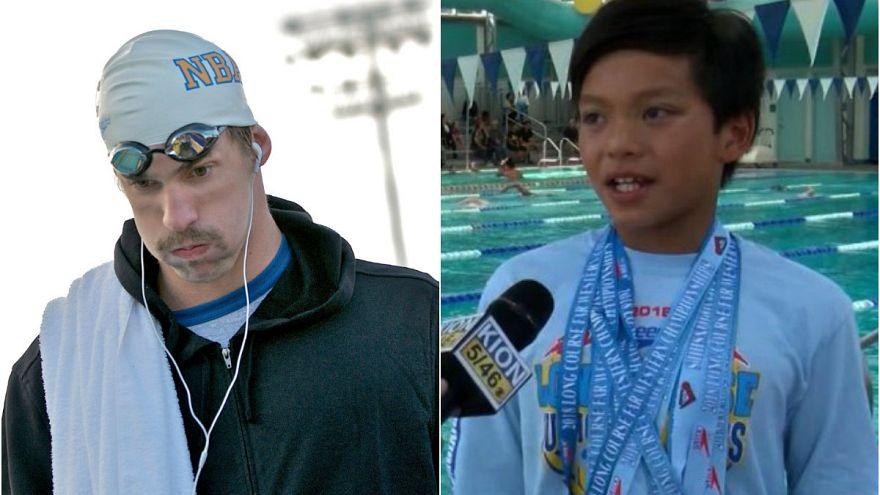 'Çocuk Süperman' Michael Phelps'in 23 yıllık rekorunu kırdı