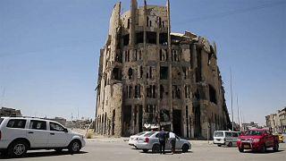Musul'un El Şifa mahallesinde yıkılı El Zehravi hastanesi