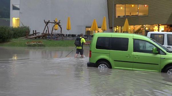 Überschwemmungen im Westen Österreichs