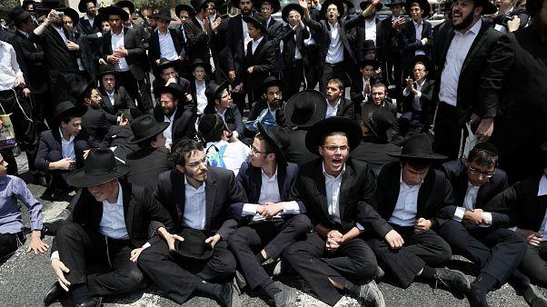 Protest von Israels Ultraorthodoxen gegen Wehrdienst