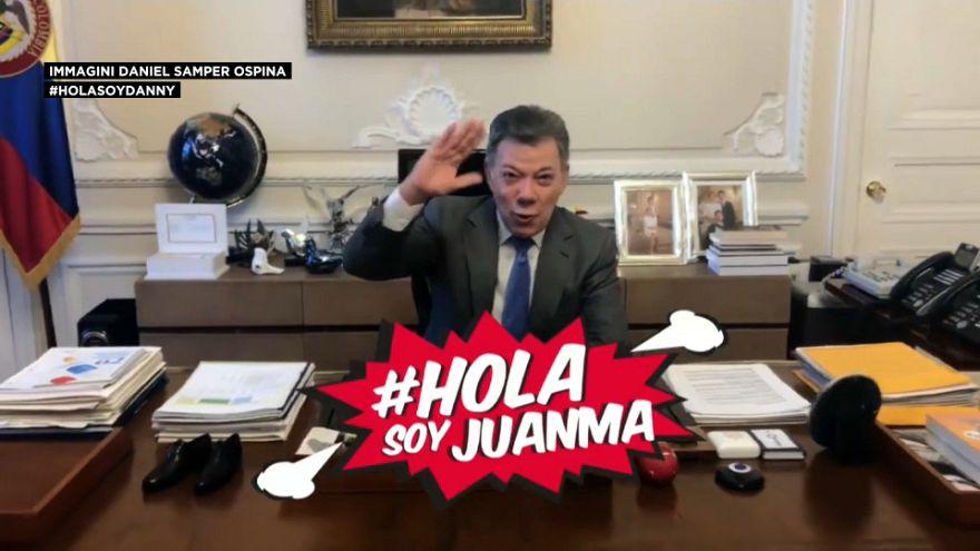 Juan Manuel Santos diventa youtuber
