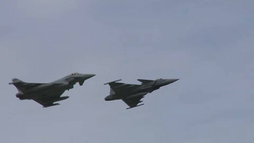 Légi harcot gyakoroltak a magyar Gripenek