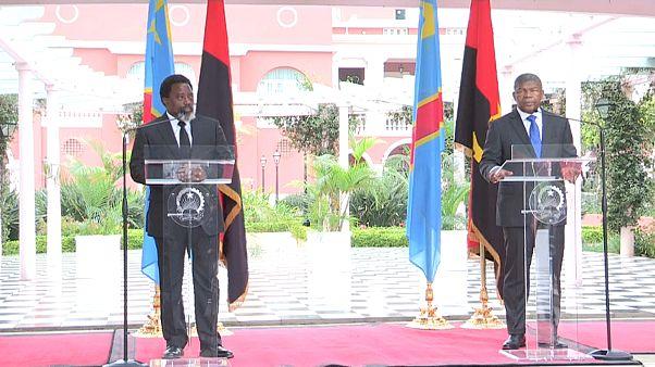 Joseph Kabila e João Lourenço em Luanda