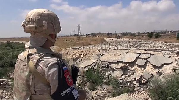 قوات روسية تنتشر على الحدود بين سوريا وإسرائيل في مرتفعات الجولان