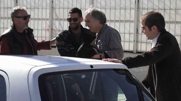 Koufodinas vor seinem Hafturlaub