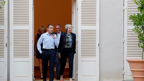 Treffen zwischen May und Macron