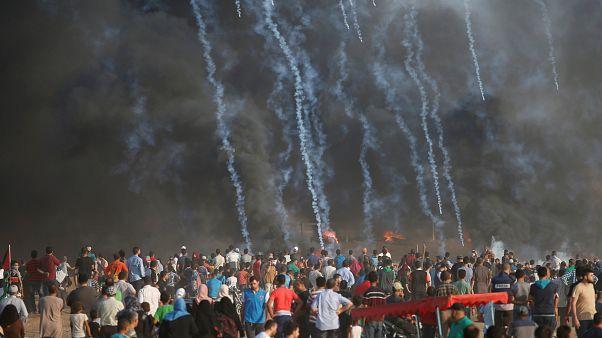 Gazze'deki gösterilere İsrail askerlerinin müdahalesinde 1 Filistinli hayatını kaybetti
