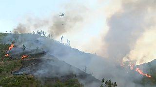 شاهد: موجة حر شديدة وحرائق تعصف بإسبانيا والبرتغال