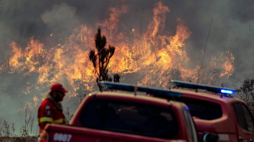 Portuguese firefighters evacuate villages in the Algarve