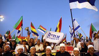 Bandera druza decorada con la estrella de David