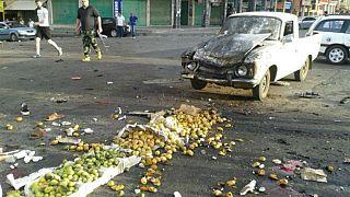 آثار دمار ناجمة عن هجمات السويداء