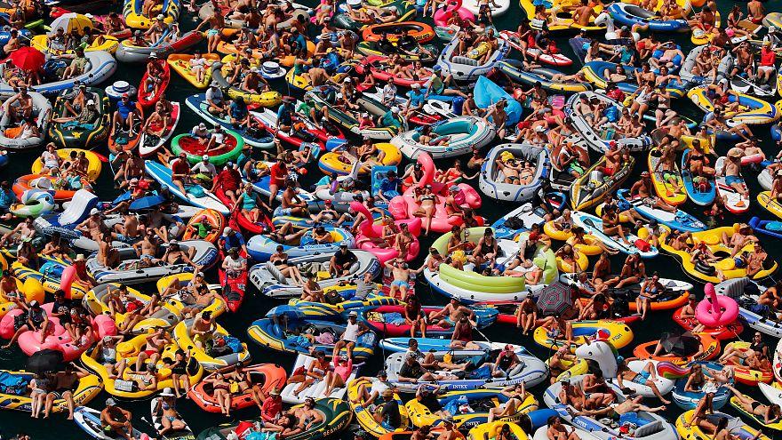 Alle im Gummiboot: Europa in der Hitze - 10 der heftigsten Fotos