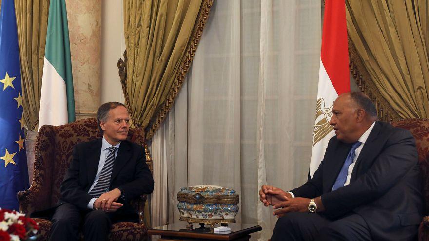 وزير الخارجية الإيطالي يجتمع بالسيسي وشكري في أول زيارة لمصر منذ مقتل ريجيني