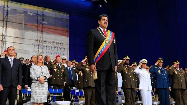 Novas imagens do atentado contra Maduro