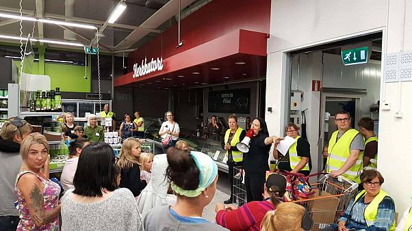 Helsinki shoppers sleep in air conditioned supermarket aisles to escape heatwave   The Cube