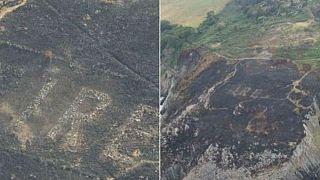 İrlanda'da orman yangınları tarihi kalıntıyı ortaya çıkardı