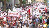 """شاهد: تونس تنتفض رفضا للتعديلات الاجتماعية والمتظاهرون يرددون """"تونس إسلامية"""""""