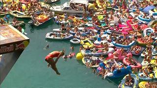 Red Bull Cliff Diving World Series no Lago dos Quatro Cantões