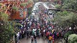 Bangladeş başkenti Dakka'da öğrenci protestoları