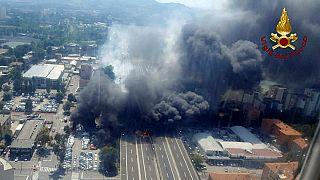 Acidente de bolonha provocou uma explosão visível a vários quilómetros