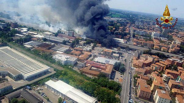 Мощный взрыв в Болонье