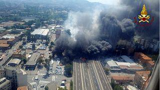 Two dead, dozens injured in Bologna motorway blaze