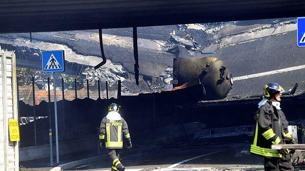 Hatalmas robbanás az olasz sztrádán
